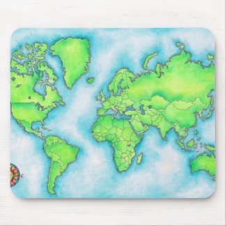Map of the World 15 Mouse Mat