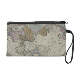 Map of the World 16 Wristlet Purse
