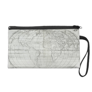 Map of the World 17 Wristlet Clutch