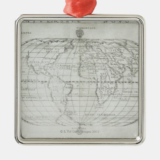 Map of the World 17 Christmas Ornament