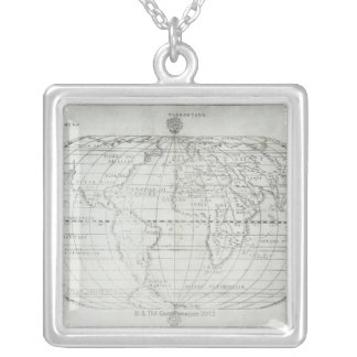 Map of the World 17 Silver Plated Necklace
