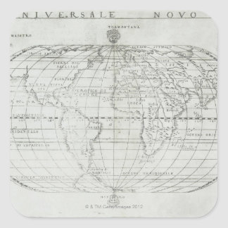 Map of the World 17 Square Sticker