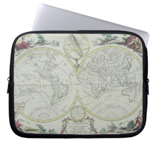 Map of the World 18 Laptop Sleeve