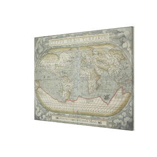 Map of the World 19 Canvas Print