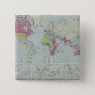 Map of the World 20 15 Cm Square Badge
