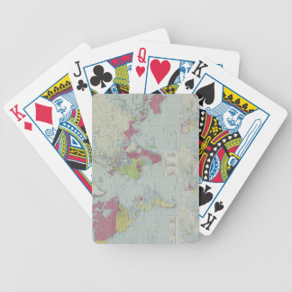 Map of the World 20 Bicycle Playing Cards