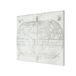 Map of the World 20 Canvas Print
