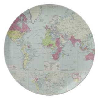 Map of the World 20 Plate