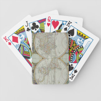 Map of the World 21 Bicycle Playing Cards