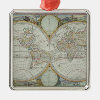 Map of the World 21 Christmas Ornament