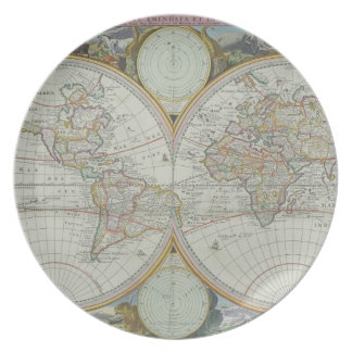 Map of the World 21 Party Plates