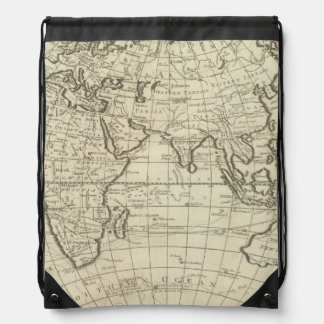 Map of the World 2 2 Drawstring Bag