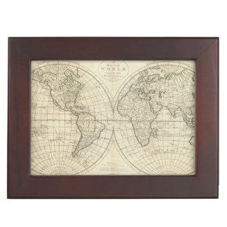 Map of the World 2 2 Keepsake Box
