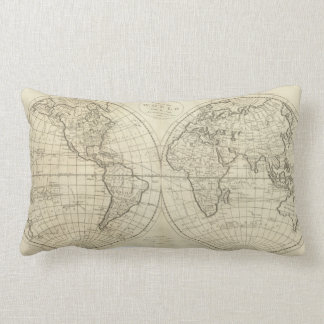 Map of the World 2 2 Lumbar Cushion