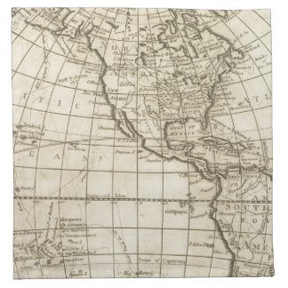 Map of the World 2 2 Napkin