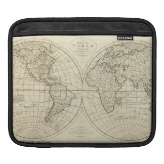 Map of the World 2 2 Sleeves For iPads