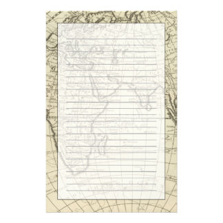 Map of the World 2 2 Stationery