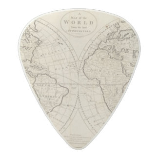Map of the World 2 Acetal Guitar Pick