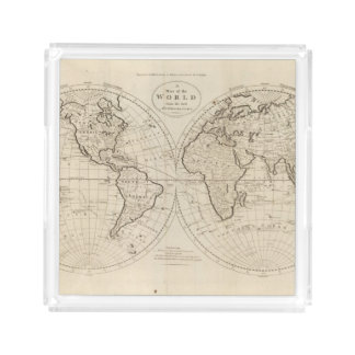 Map of the World 2 Acrylic Tray