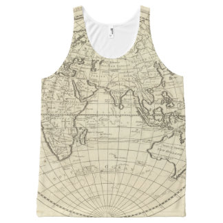 Map of the World 2 All-Over Print Tank Top