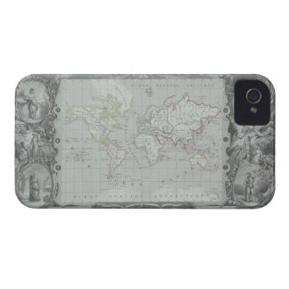 Map of the World 2 iPhone 4 Cases