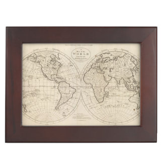 Map of the World 2 Keepsake Box