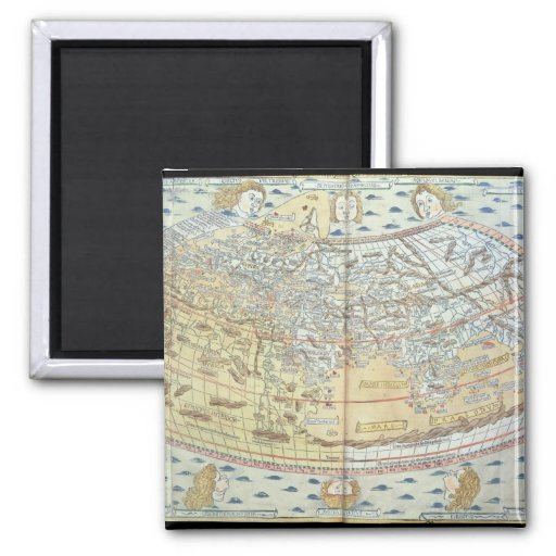 Map of the world 2 refrigerator magnets