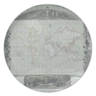 Map of the World 2 Plate