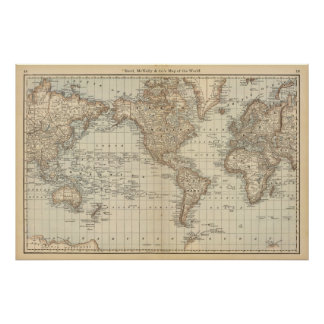 Map of the World 2 Poster