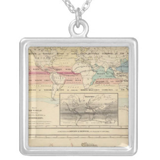Map of The World 2 Silver Plated Necklace
