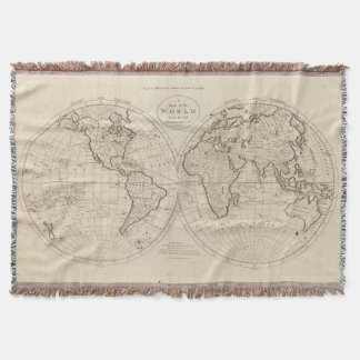 Map of the World 2 Throw Blanket