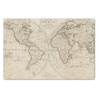 Map of the World 2 Tissue Paper