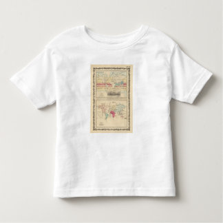 Map of The World 2 Toddler T-Shirt