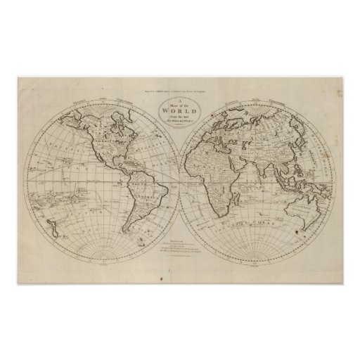 Map of the World 3 Print