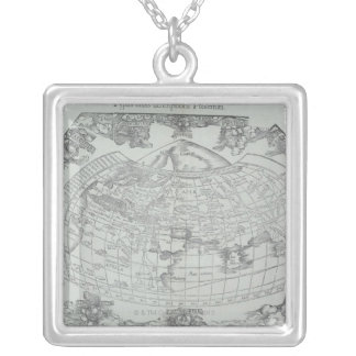 Map of the World 4 Silver Plated Necklace