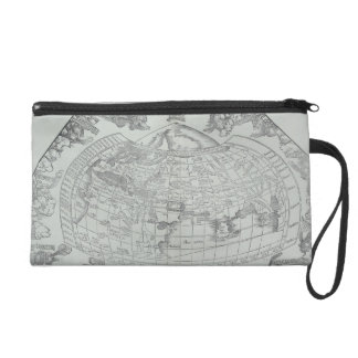 Map of the World 4 Wristlet