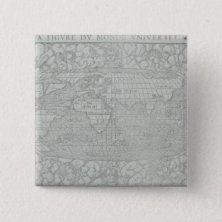 Map of the World 5 15 Cm Square Badge