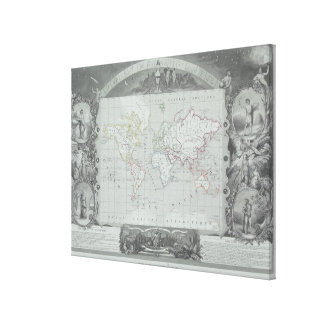 Map of the World 5 Canvas Print