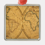 Map of the World 5 Christmas Ornament