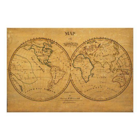 Map of the World 5 Poster