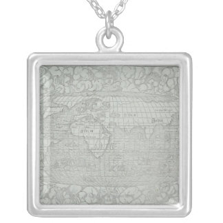 Map of the World 5 Silver Plated Necklace