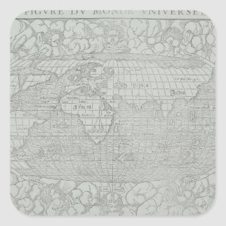 Map of the World 5 Square Sticker