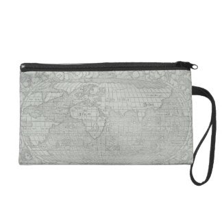 Map of the World 5 Wristlet Purse