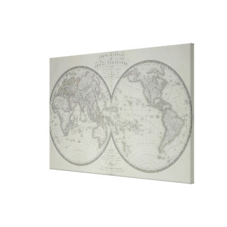 Map of the World 6 Canvas Print