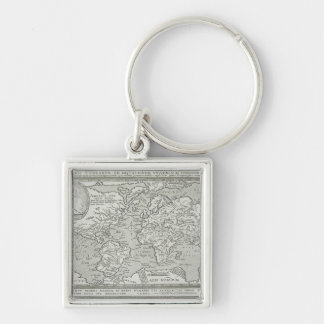 Map of the World 6 Key Ring