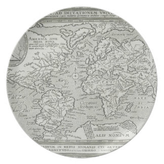 Map of the World 6 Plate