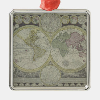 Map of the World 7 Christmas Ornament