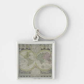 Map of the World 7 Key Ring