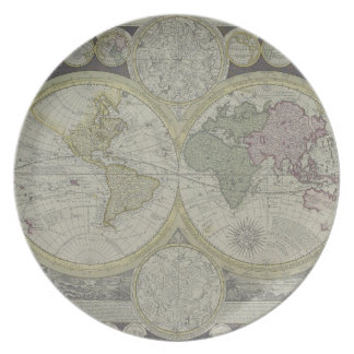 Map of the World 7 Party Plate