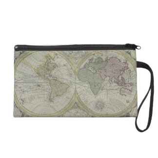 Map of the World 7 Wristlets